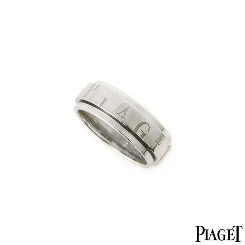 Piaget 18k White Gold Possession Ring B&P G34PR756
